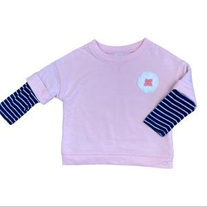 Carters pink and navy pullover sweater